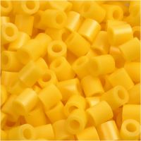 Fuse Beads, size 5x5 mm, hole size 2,5 mm, medium, yellow (32227), 1100 pc/ 1 pack