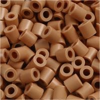 Fuse Beads, size 5x5 mm, hole size 2,5 mm, medium, light brown (32260), 6000 pc/ 1 pack