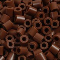 Fuse Beads, size 5x5 mm, hole size 2,5 mm, medium, chocolate (32249), 6000 pc/ 1 pack