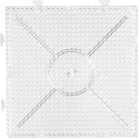 Peg Board, big build square, size 15x15 cm, transparent, 1 pc