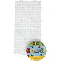 Peg Board, large square, JUMBO, transparent, 1 set