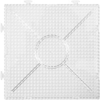 Peg Board, size 15x15 cm, transparent, 2 pc/ 1 pack