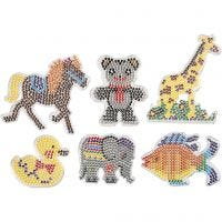 Peg Board, different animals, size 10x11-13x16,5 cm, 6 pc/ 1 pack