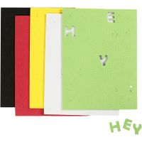 EVA Foam Letters & Numbers, size 2-2,3 cm, thickness 2 mm, assorted colours, 5 sheet/ 1 pack