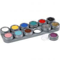 Water-based Face Paint Palette, assorted colours, 12x2,5 ml/ 1 pc