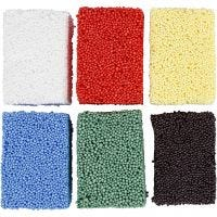 Soft Foam, standard colours, 6x10 g/ 1 pack