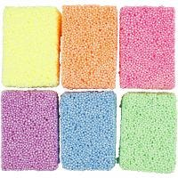 Soft Foam, neon colours, 6x10 g/ 1 pack