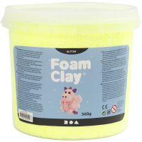 Foam Clay®, glitter, yellow, 560 g/ 1 bucket