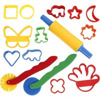 Cutters and tools, size 3,5x3,5-7x9 cm, assorted colours, 15 pc/ 1 pack