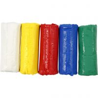 Soft Clay, H: 9,5 cm, assorted colours, 400 g/ 1 bucket