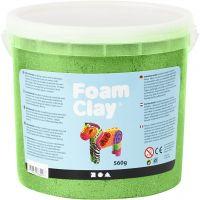 Foam Clay®, metallic, green, 560 g/ 1 bucket