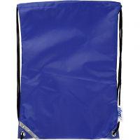 Drawstring bag, size 31x44 cm, blue, 1 pc