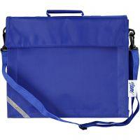 School Bag, depth 6 cm, size 36x31 cm, blue, 1 pc