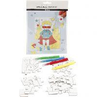Mini Creative Kit, superhero, white, 1 set