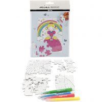 Mini Creative Kit, princess, white, 1 set