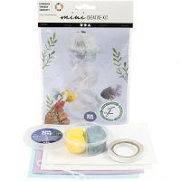 Creative mini kit, Jellyfish and fish, 1 set
