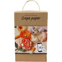Crepe paper Discover kit, 105 g, assorted colours, 1 set