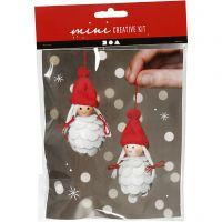 Creative mini kit, Christmas elf girls, H: 8 cm, 1 set
