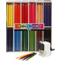 Colortime colouring pencils, lead 5 mm, assorted colours, 1 set