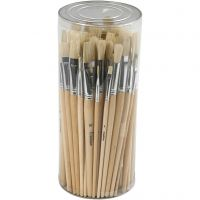 Nature Line Brushes, no. 1-10, W: 5-15 mm, short handles, 80 pc/ 1 pack